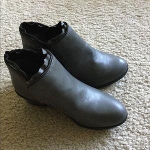 Women's gray booties